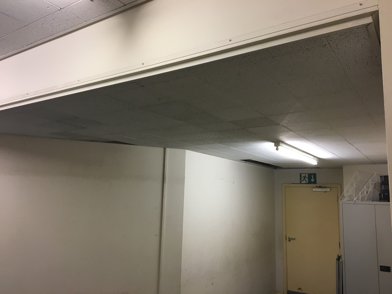 Lower vestry ceiling now refitted