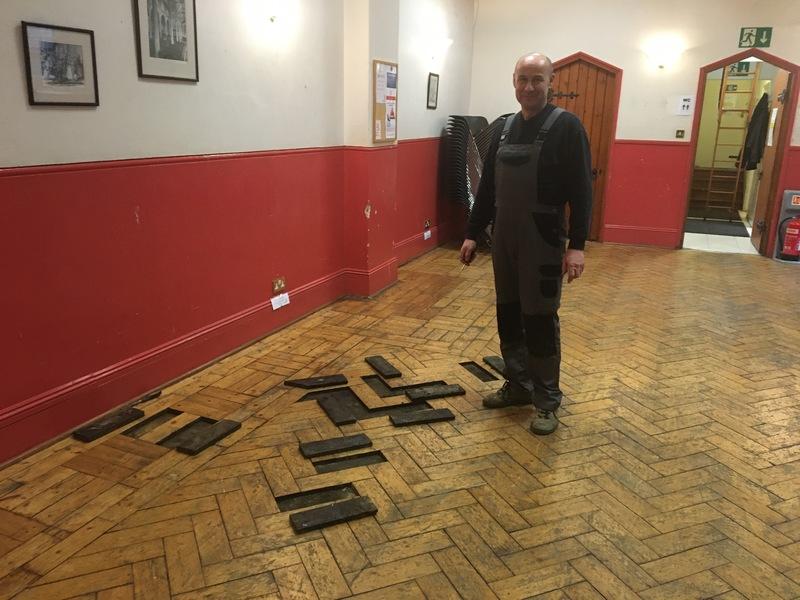 Making progress on the repair to the Hall Floor. Thank Marek