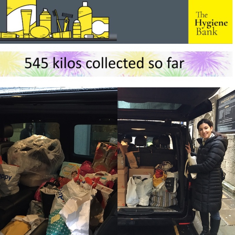 545 kilos of hygiene products collected and now distributed to JRS