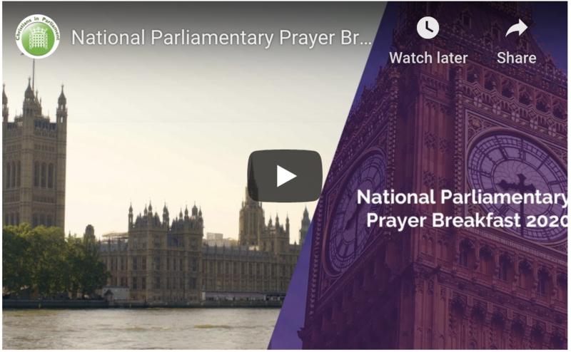 The National Parliamentary Prayer Breakfast 30 June 2020